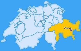Karte von Zuoz