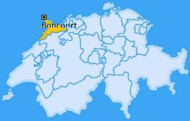 Karte von Boncourt