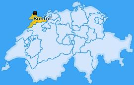 Karte von Bonfol
