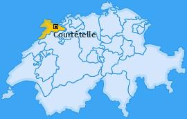 Karte von Courtételle