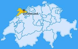 Karte von Delémont