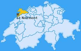 Karte von Le Noirmont