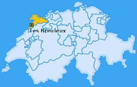 Karte von Les Breuleux