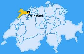 Karte von Mervelier