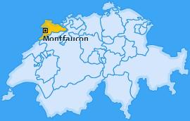 Karte von Montfaucon