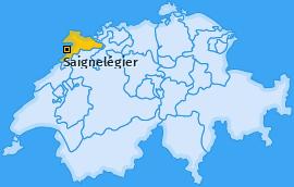 Karte von Saignelégier