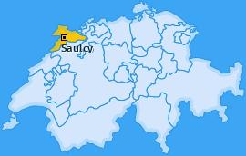 Karte von Saulcy