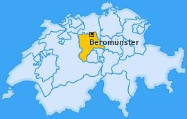 Karte von Beromünster