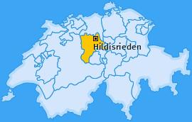 Karte von Hildisrieden