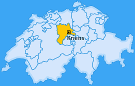 Karte Obernau Kriens