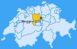 Karte von Meggen (LU)