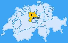 Karte von Ruswil