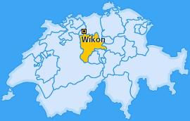 Karte Wikon-Oberdorf Wikon