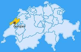 Karte von Gorgier