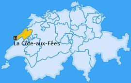Karte von La Côte-aux-Fées