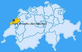 Karte von Les Ponts-de-Martel