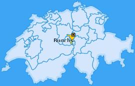 Karte von Buochs