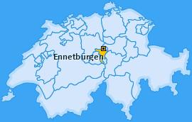 Karte von Ennetbürgen
