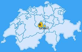 Karte von Giswil