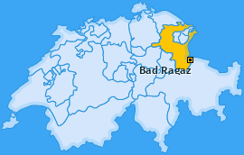 Karte von Bad Ragaz