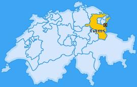 Karte von Gams
