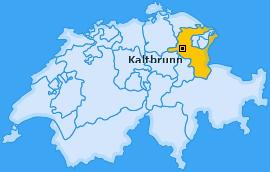 Karte von Kaltbrunn
