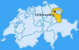 Karte von Lichtensteig