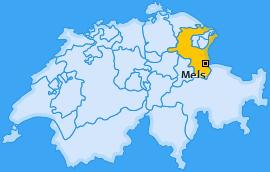 Karte Mädris Mels