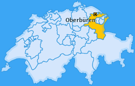 Karte von Oberbüren