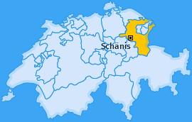 Karte von Schänis