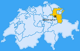 Karte von Weesen