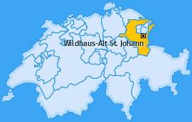 Karte von Wildhaus-Alt St. Johann