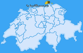 Karte von Schaffhausen