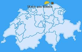 Karte von Stein am Rhein