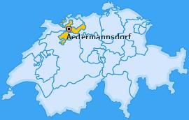 Karte von Aedermannsdorf