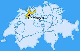 Karte von Deitingen