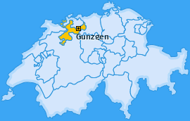 Karte von Gunzgen