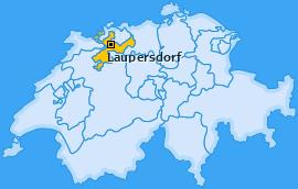 Karte von Laupersdorf