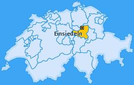 Karte von Einsiedeln