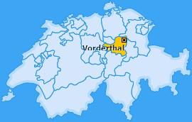 Karte von Vorderthal