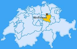 Karte von Wollerau