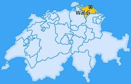 Karte von Wäldi