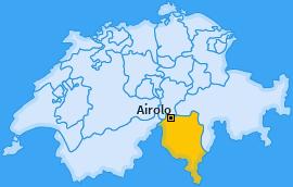 Karte von Airolo