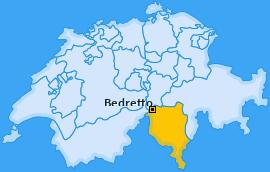 Karte von Bedretto