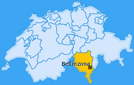 Karte von Bellinzona