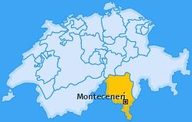 Karte von Monteceneri