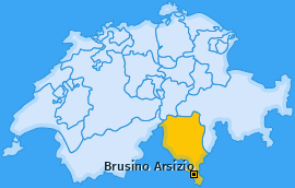 Karte von Brusino Arsizio