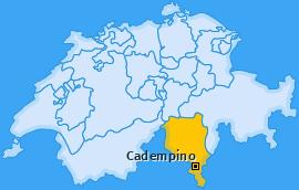 Karte von Cadempino