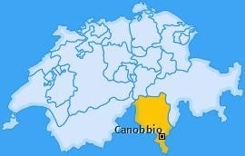 Karte von Canobbio
