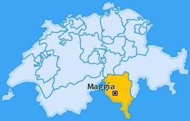 Karte von Maggia